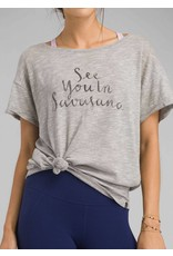 prAna prAna Chez Tee Grey Heather Savasana
