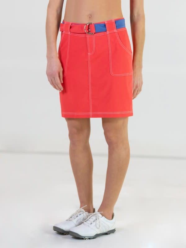 Jofit Belted Golf Skort Tomato