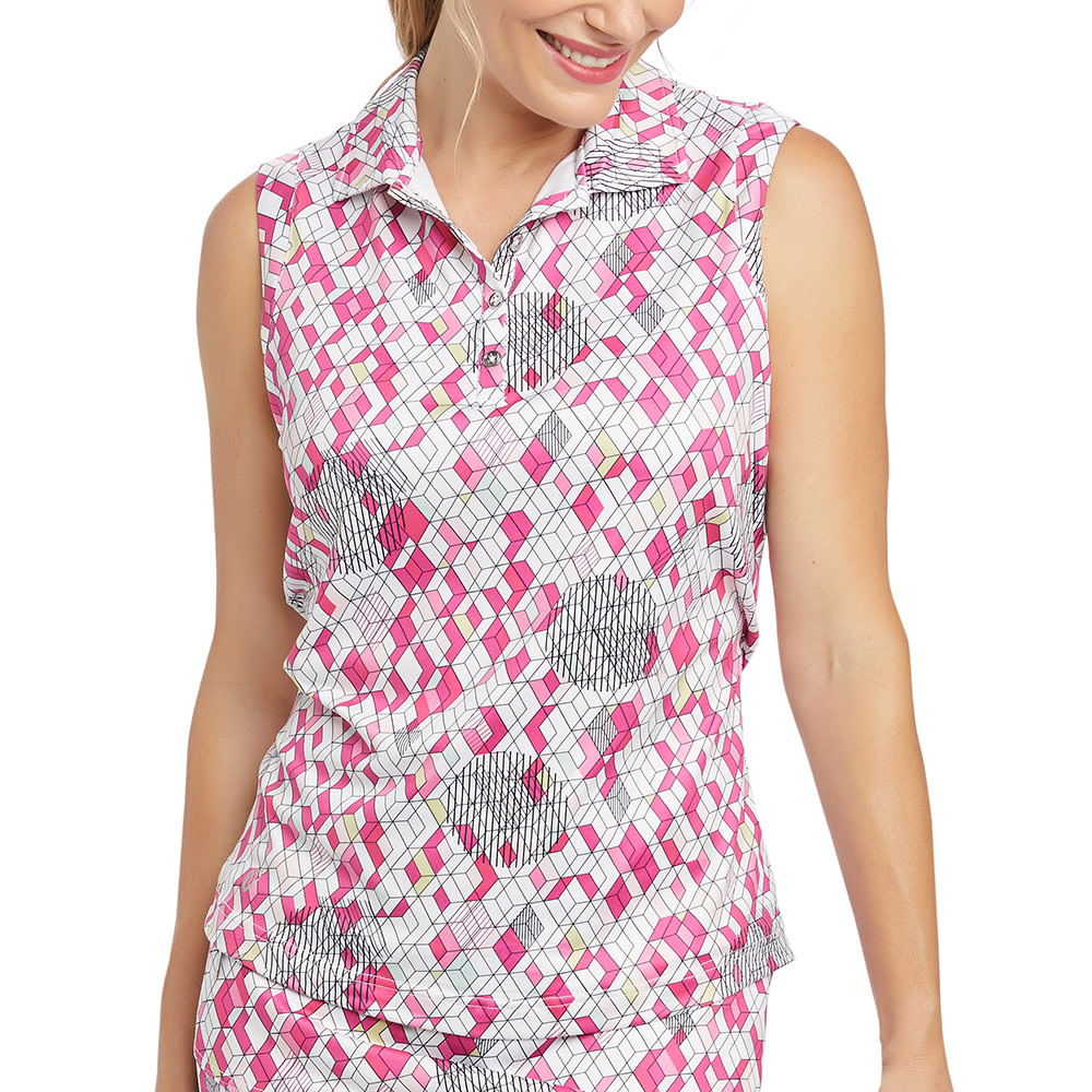 GGblue GGblue Holly Sleeveless Polo Ornate