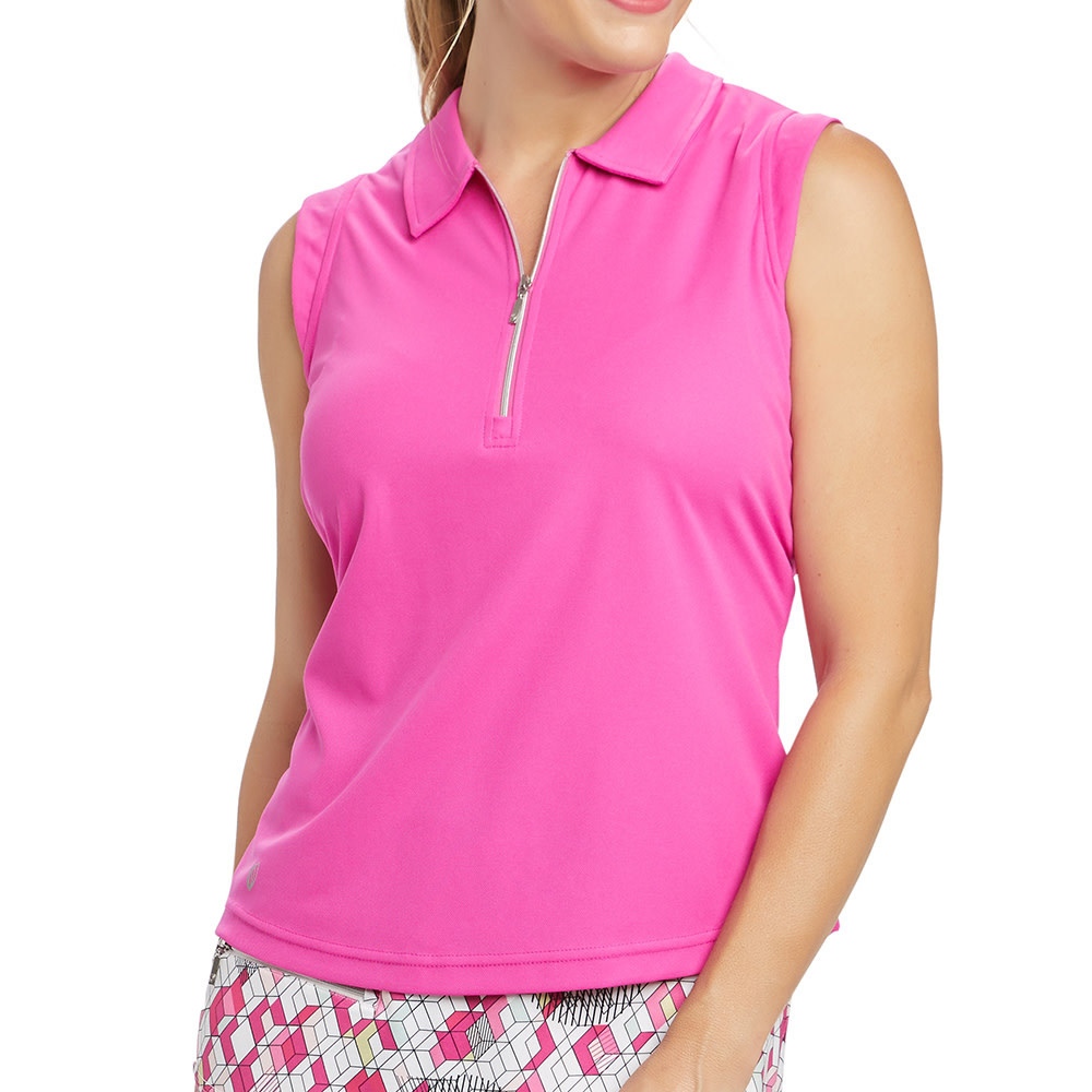 GGblue GGblue Katy Sleeveless Polo Magenta