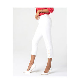 Liverpool Jeans Abby Crop Skinny Button Placket White