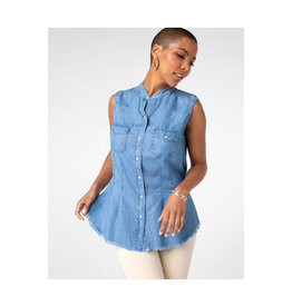 Liverpool Jeans Liverpool Flap Patch Pocket Sleeveless Top
