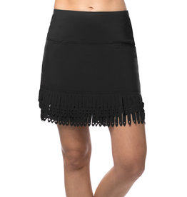 Lucky In Love Laser Slash Skort Long Black