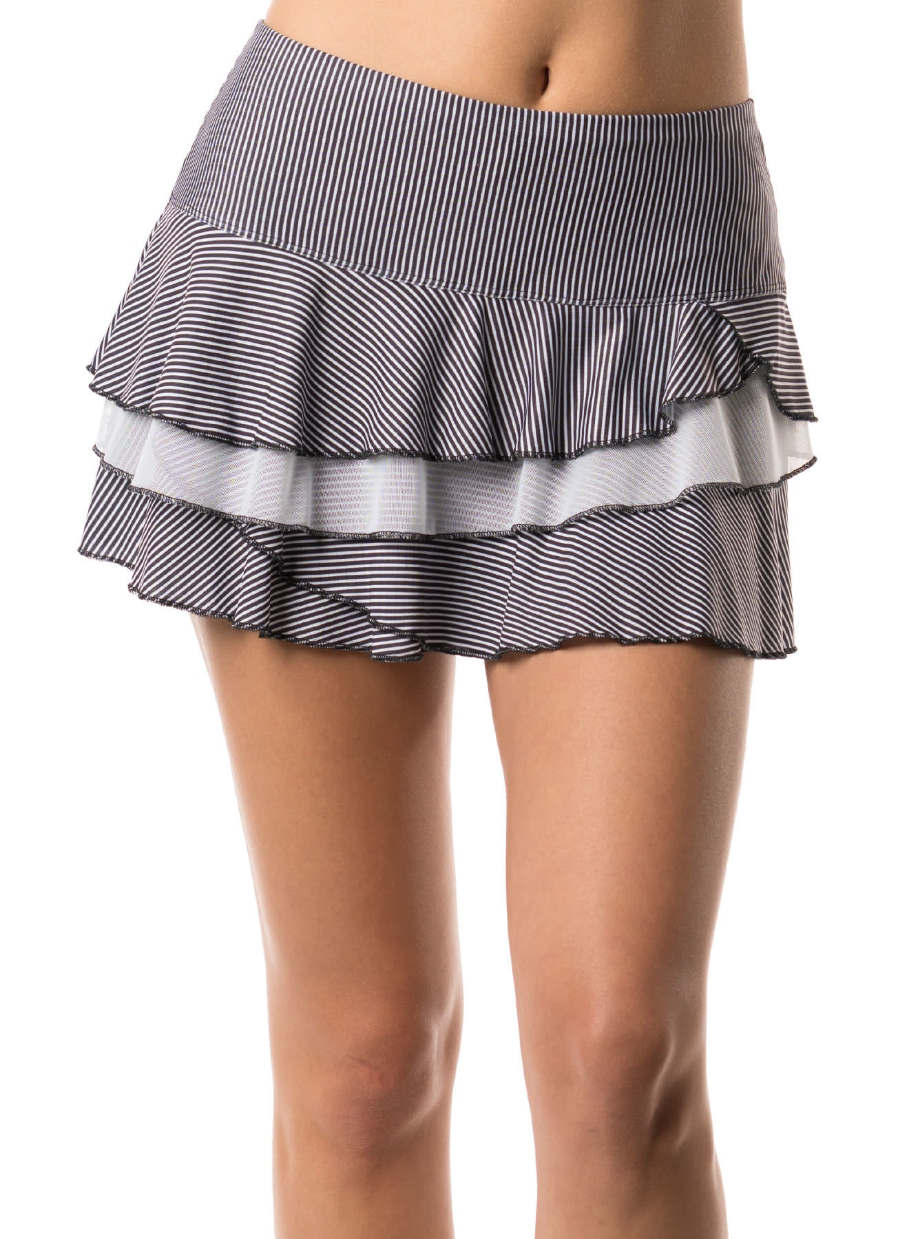Lucky In Love Beeline Rally Skirt Black