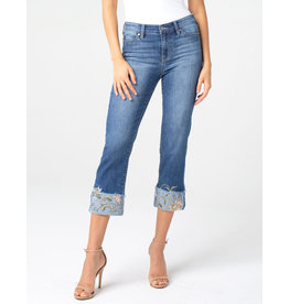 Liverpool Jeans Liverpool Sadie Crop Embroidered Cufff Melbourne Light