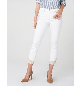Liverpool Jeans Liverpool Abby Crop Embroidered Scallop Bright White