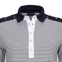 Golfino Golfino Nautical Stripes Short Sleeve Polo Navy