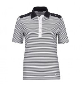 Golfino Golfino Nautical Stripes Short Sleeve Polo Navy