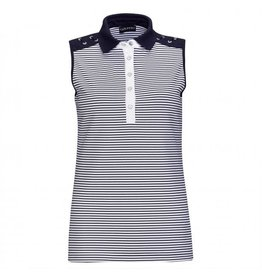 Golfino Golfino Nautical Stripes Sleeveless Polo Navy