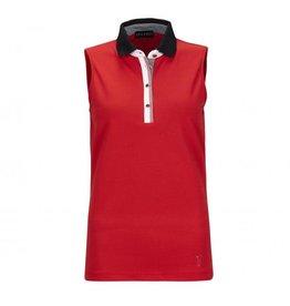Golfino Golfino Vichy Sleeveless Polo Scarlet