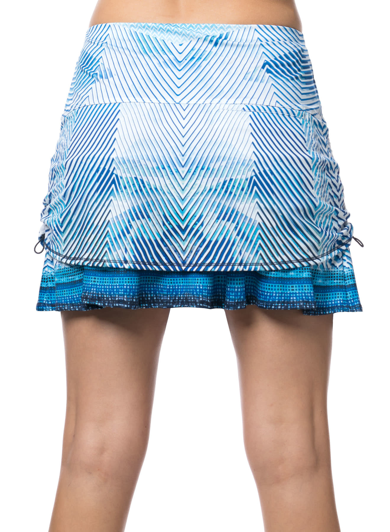 Lucky In Love Lucky in Love Axis Point Ruched Skort El Blue