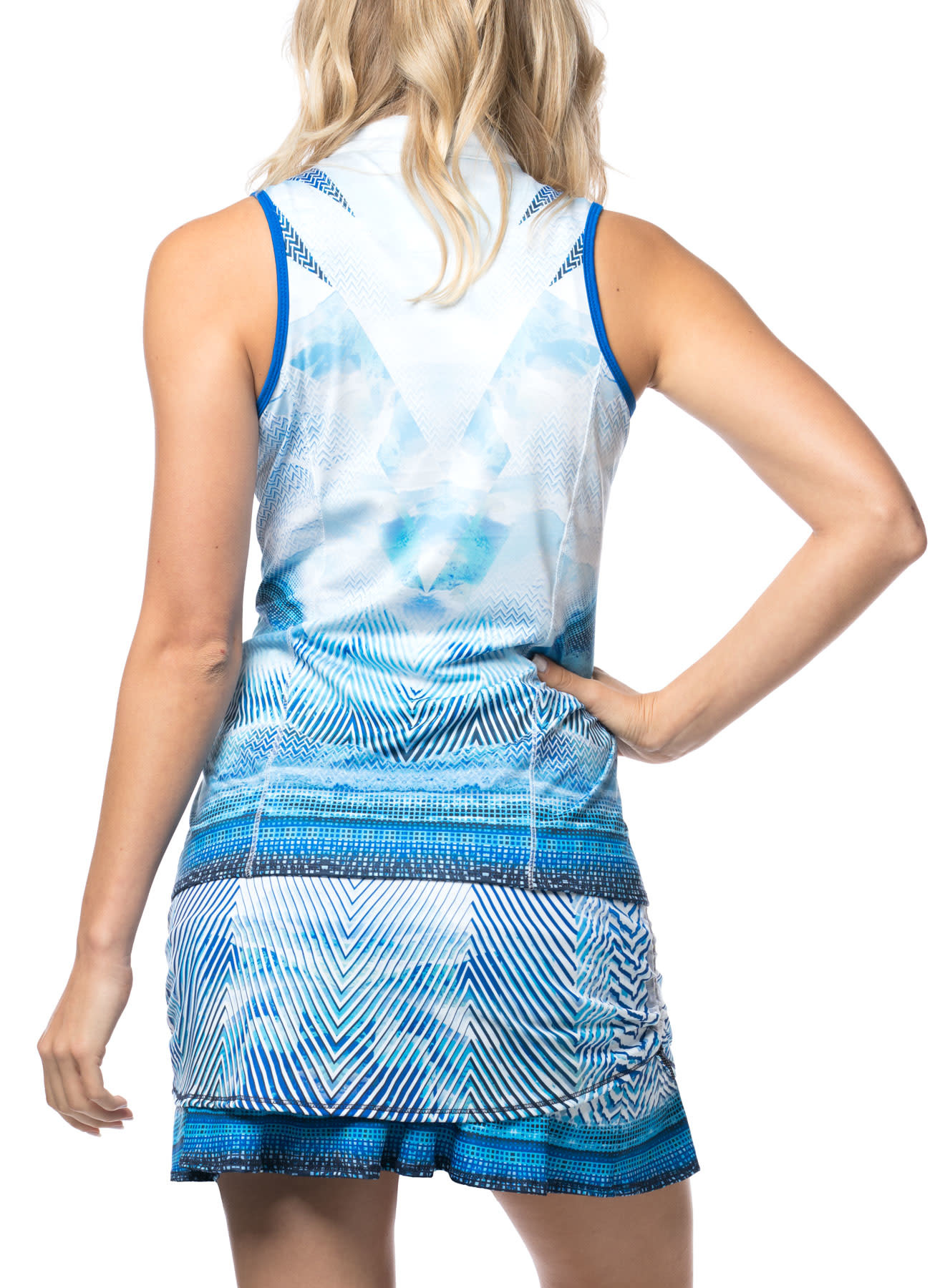 Lucky In Love Lucky in Love Axis Point Zip Tank El Blue