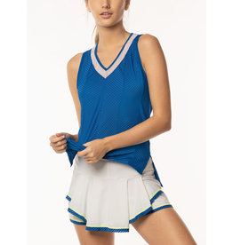 Lucky In Love Shadow Stripe Tank El. Blue