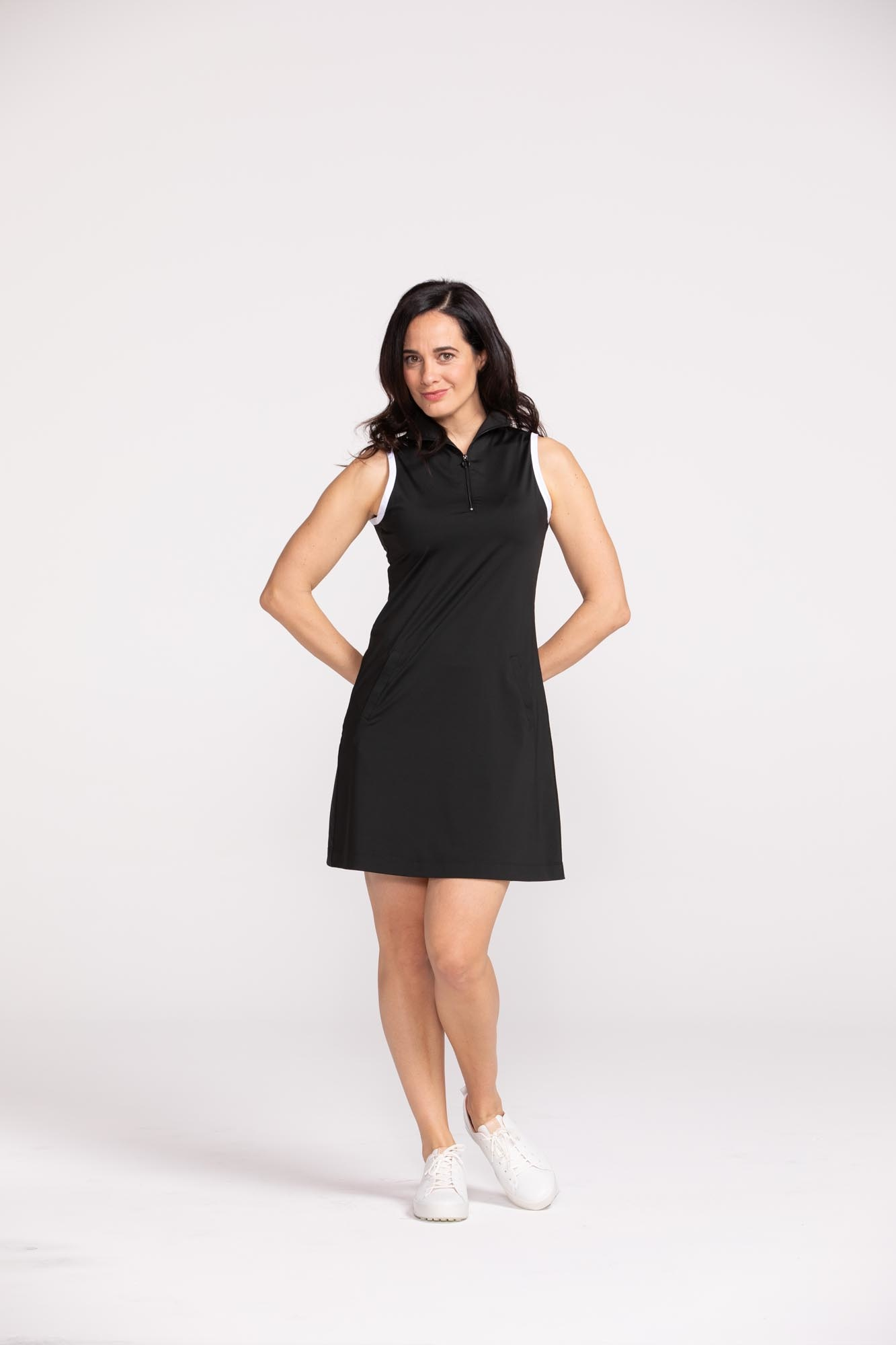 Kinona Kinona Simply Chic Sleeveless Golf Dress Black