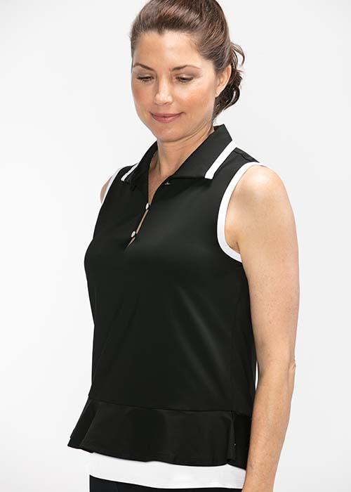 9a4fd08146ba Kinona Layered Look Sleeveless Top Black - Alexandrite Active & Golf ...