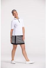 Kinona Keep it Covered Short Sleeve Top White