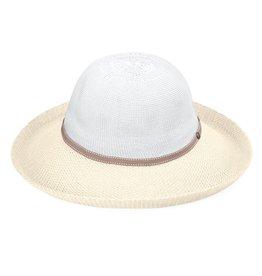 Wallaroo Wallaroo Victoria Two-Toned Hat White/Natural