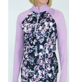 Jofit Jofit Long Sleeve Mock Rose Print