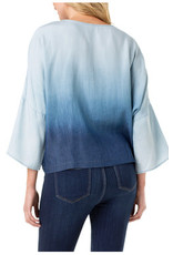 Liverpool Jeans Liverpool Oversized Dolman Popover Shirt Cosmos