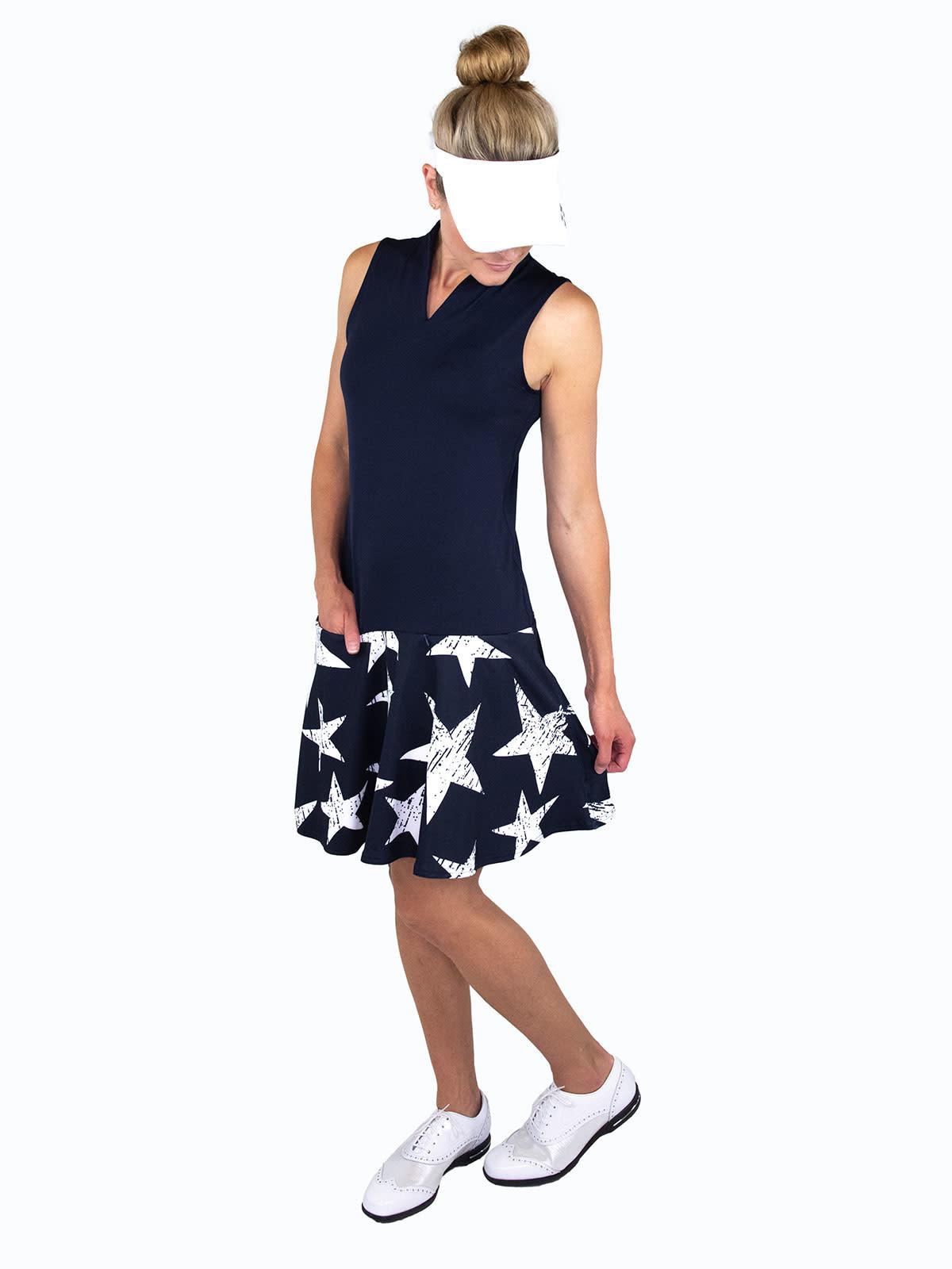 Jofit Jofit Drop Waist Dress Big Star Print