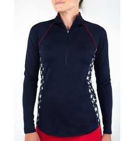 Jofit Jofit Piped Long Sleeve Mock Midnight Star Print