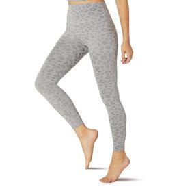Beyond Yoga High Waisted Midi Legging Gray Leopard