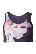 Daily Sports Active Daily Sports Printed Bra Aubergine