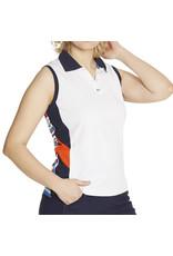 GGblue GGblue Sydney Sleeveless Polo White/Energy
