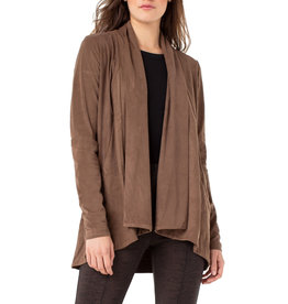 Liverpool Jeans Shawl Double Front Cardigan Brogue Brown