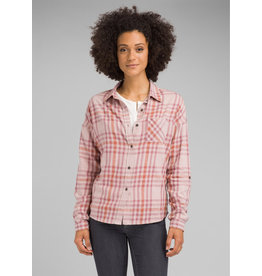 prAna Percy Top Mauve Macro Plaid