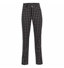 Golfino Golfino Statement Blue Checked Trousers Black