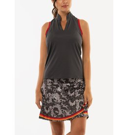 Lucky In Love Lucky in Love Diverge Patchwork Tank Charcoal