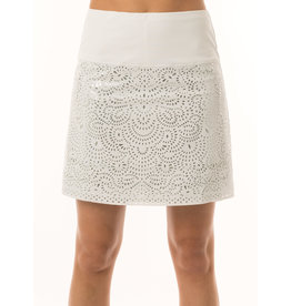 Lucky In Love Laser Shine Skort Long Wh/Silver
