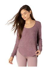 Beyond Yoga Beyond Yoga Cut & Run Pullover Deep Blush-Wild Orchid