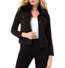 Liverpool Jeans Liverpool Jeans Classic Jean Jacket w/detachable Fur Collar Black