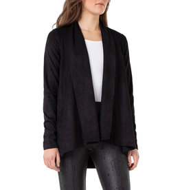 Liverpool Jeans Liverpool Jeans Shawl Double Front Cardigan Black