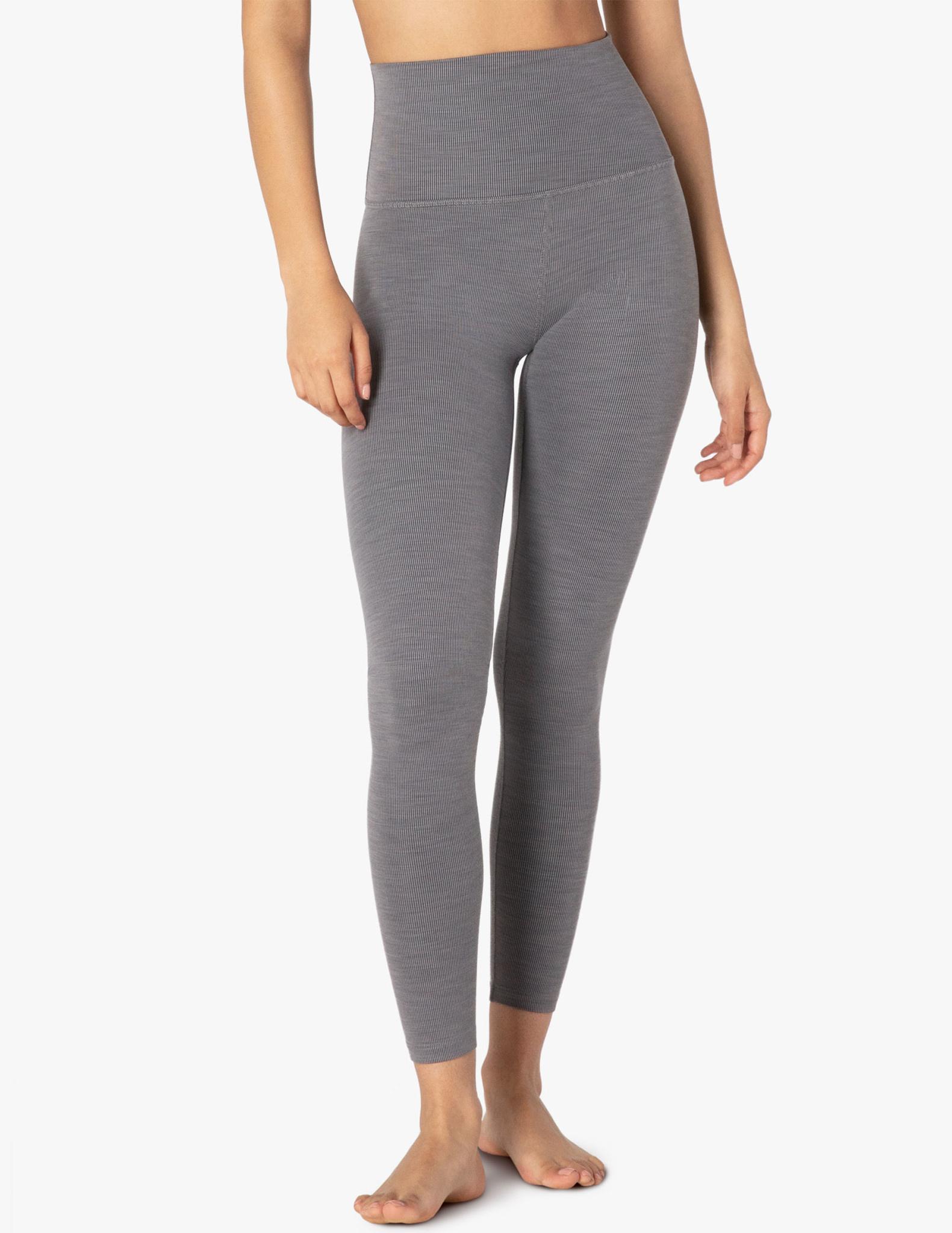 Beyond Yoga Beyond Yoga Heather Rib Midi Legging Grey