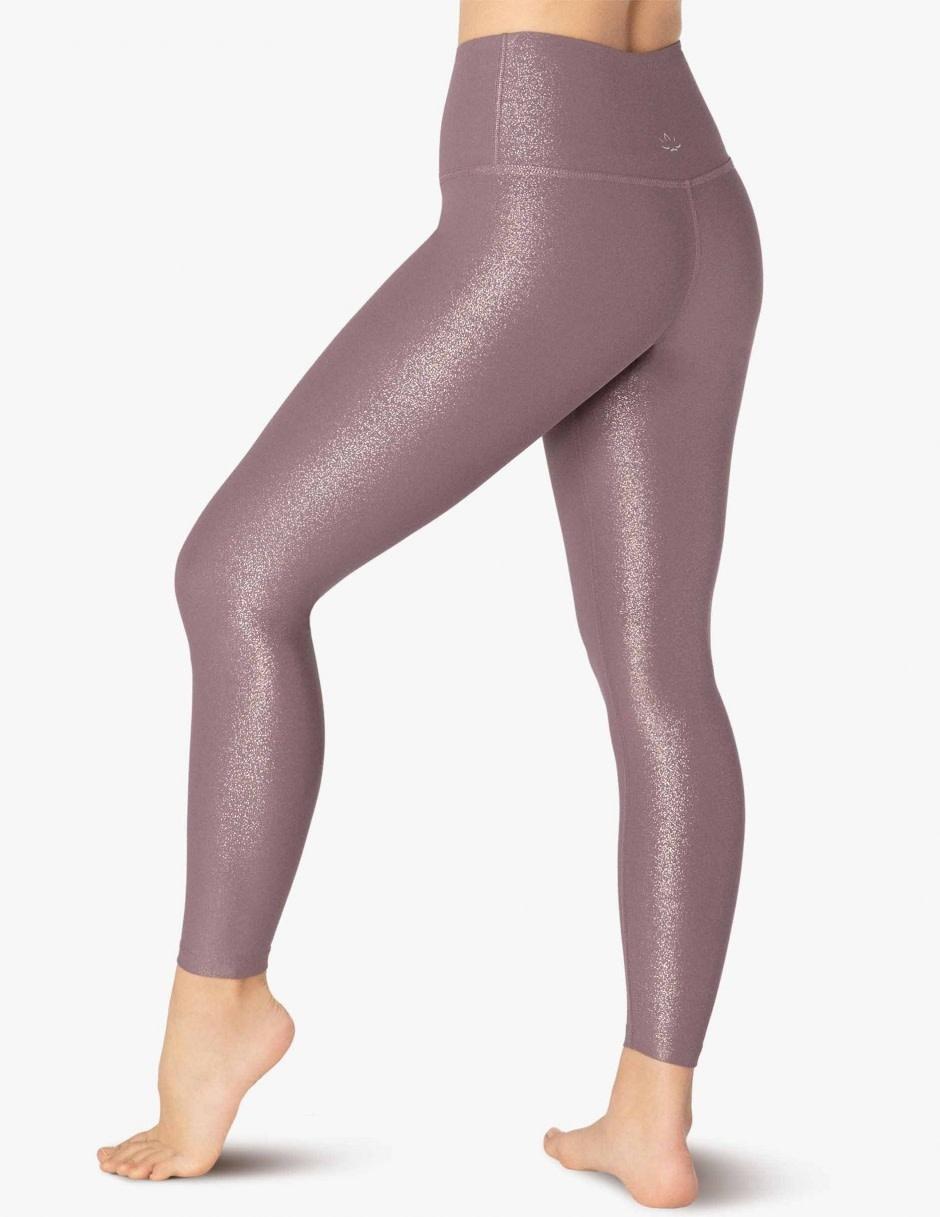 Beyond Yoga Beyond Yoga Twinkle Midi Legging Wild Orchid-Rose Gold