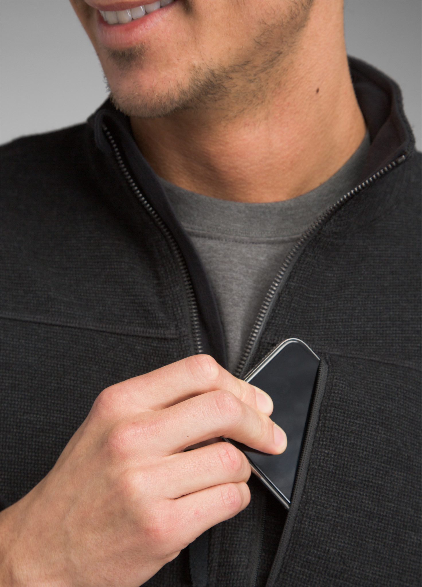 prAna Riddle Full Zip Pullover Black