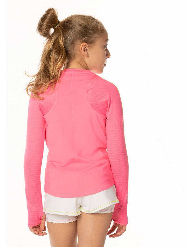 Lucky In Love Lucky In Love LS Athletic Crew Pink