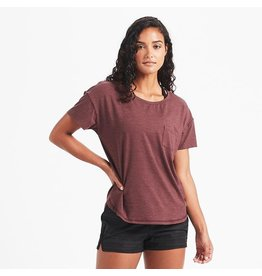 Vuori Vuori Lux Performance Tee Fig Heather