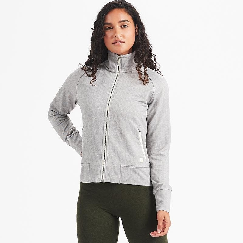 Vuori Vuori Herringbone Jacket Light Grey