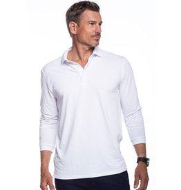 IBKul IBKul Solid Long Sleeve Polo White