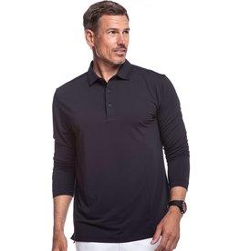 IBKul IBKul Solid Long Sleeve Polo Black