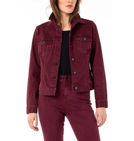Liverpool Jeans Classic Jean Jacket Oxblood