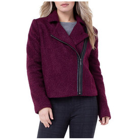 Liverpool Jeans Zip-Up Moto Jacket Berry