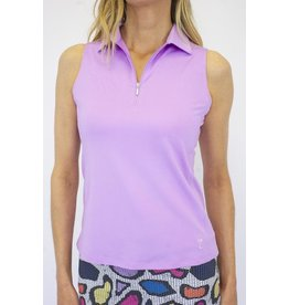 Golftini Golftini Sleeveless Zip Tech Polo Lavender