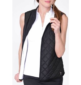 Golftini Golftini Reversible WInd Vest Blk/Wh