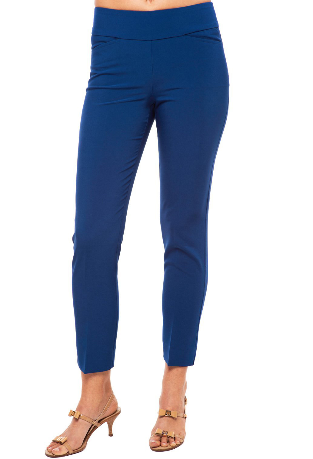 IBKul Stain Resistant Ankle Pant Navy