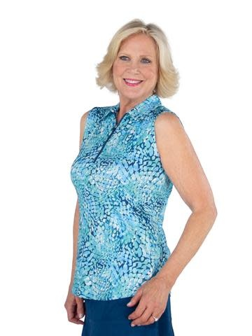 Jofit Jofit Sleeveless  Polo Cove Mosaic Print